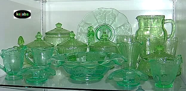 Depression Elegant And 40s40s40s Glass Identification Guide Fascinating Green Depression Glass Patterns
