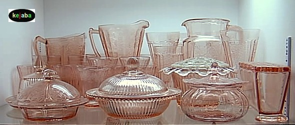 Depression Era 40s 40s 40s And Elegant Glass Patterns Stunning Vaseline Glass Pattern Identification